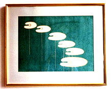 153-2 Bladvormen blauw, 1981